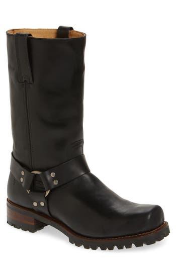 Frye Addison Waterproof Harness Boot, Black