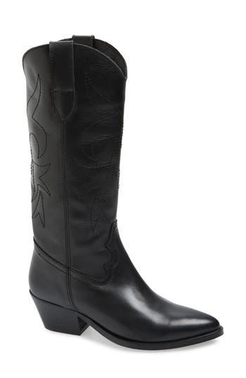 Topshop Devious Western Boots - Black