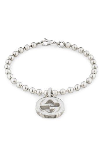 Gucci Silver Interlocking-G Line Bracelet