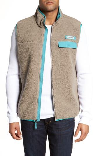 Men's Columbia Sportswear Harborside Heavyweight Fleece Vest, Size Small - Brown