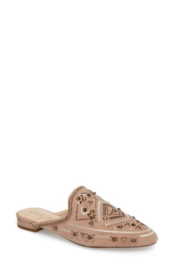 Women's Sole Society Peace Embellished Loafer Mule, Size 10 M - Pink