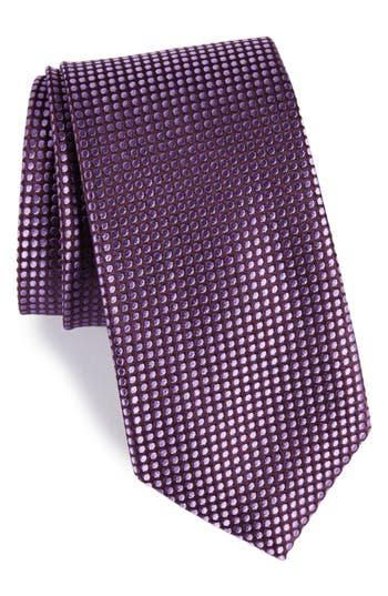 Men's Nordstrom Men's Shop Charlie Dots Silk Tie, Size Regular - Purple