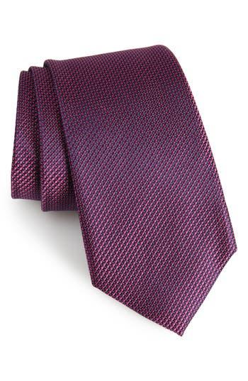 Men's Calibrate Amsberry Microcheck Silk Tie, Size Regular - Pink