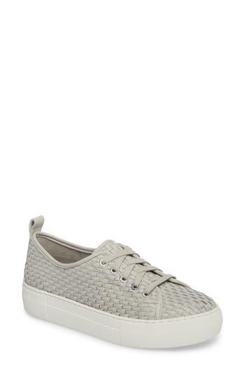 Jslides Artsy Woven Platform Sneaker, Grey