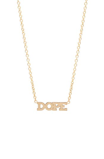 Zoe Chicco Itty Bitty Dope Pendant Necklace