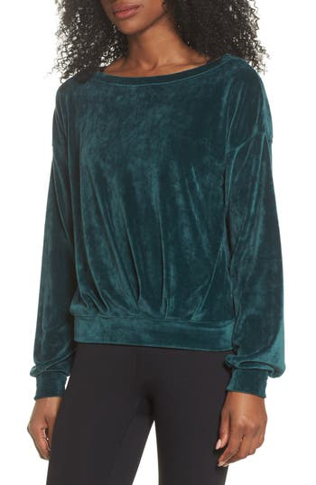 cozy velour top, must have top