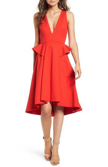 Women's Elliatt Rapture Ruffle Dress, Size X-Small - Red
