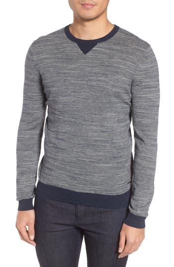 Boss Pintor Slim Fit Fineline Stripe Sweater, Blue