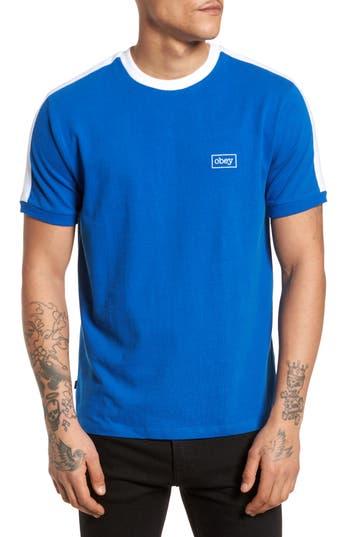 Obey Borstal T-Shirt, Blue