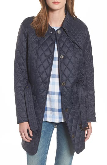 Barbour Hailes Quilted Trench Jacket, US / 14 UK - Blue