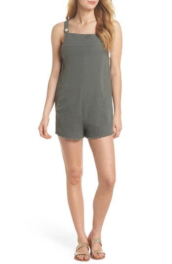 Tavik Caden Cover-Up Romper, Grey