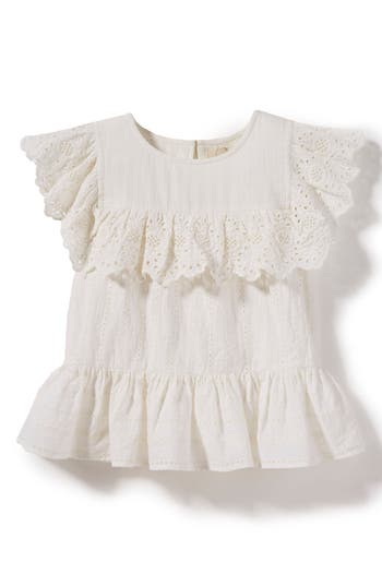 Girls Peek Georgia Crochet Woven Top