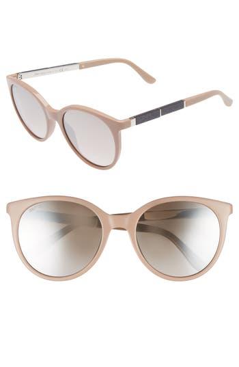 Jimmy Choo Erie 5m Gradient Round Sunglasses - Nude