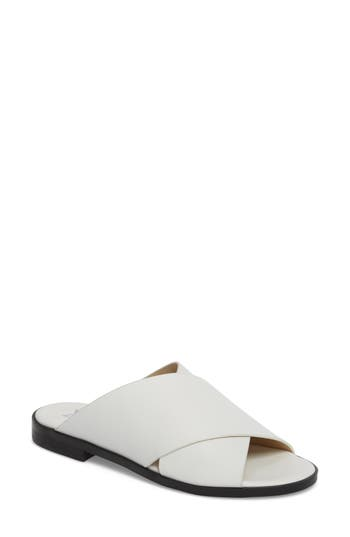 Marc Fisher Ltd Idinia Crisscross Slide Sandal- White