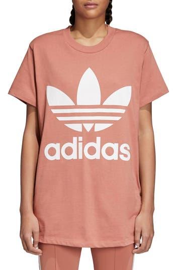 Adidas Originals Trefoil Logo Tee, Pink