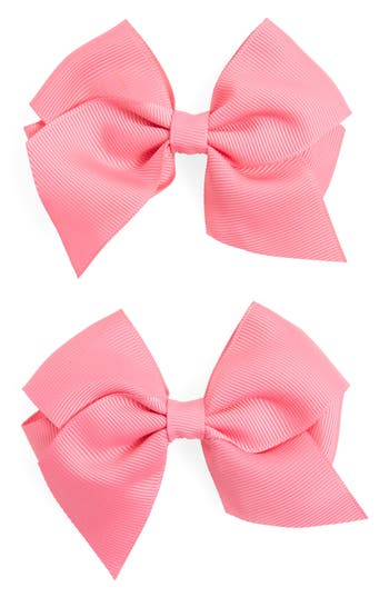 Plh Bows & Laces Bow Clips, Size One Size - Pink