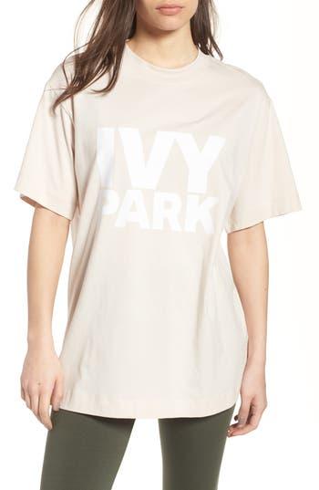 Ivy Park Programme Oversize Logo Tee, Beige