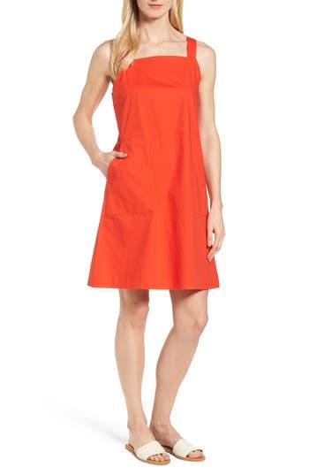 Eileen Fisher Stretch Organic Cotton Tank Dress, Red