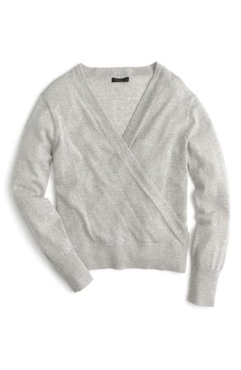 J.crew Merino Wrap Sweater, Grey