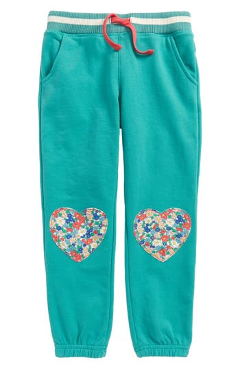 Girl's Mini Boden Applique Jogger Pants, Size 4Y - Green