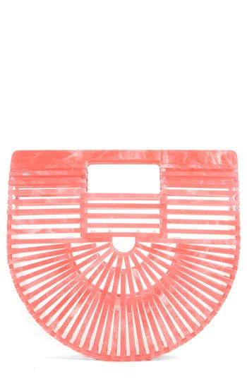 CULT GAIA MINI ARK HANDBAG - CORAL
