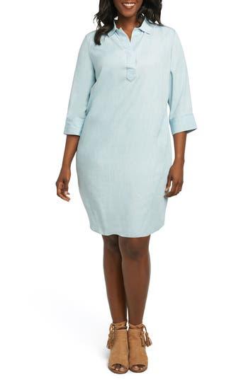 NICOLETTE CHAMBRAY SHIFT DRESS