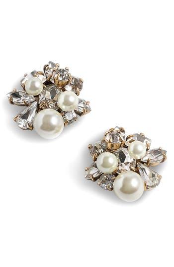 Women's J.crew Imitation Pearl & Crystal Earrings
