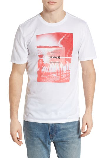 Hurley Cause & Effect Dri-Fit T-Shirt, White