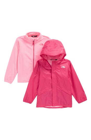 Girl's The North Face Stormy Rain Triclimate Waterproof & Windproof 3-In-1 Jacket, Size 5 - Pink