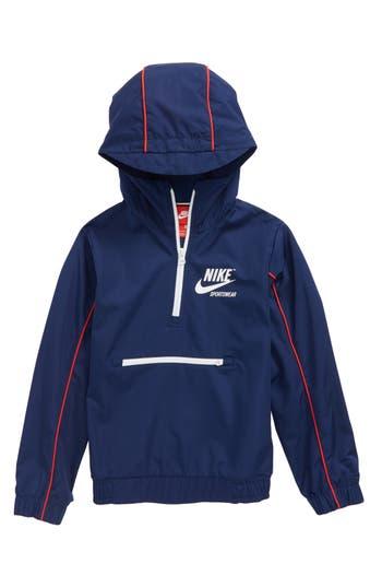 Boys Nike Sportswear Quarter Zip Hoodie Size L  1416  Blue
