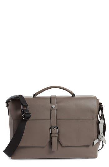 Ted Baker Sandune Leather Messenger Bag - Grey