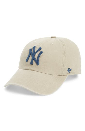 47 female womens 47 portsmouth clean up new york yankees baseball cap beige