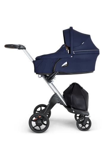 Infant Stokke Xplory Silver Chassis Stroller Size One Size  Blue