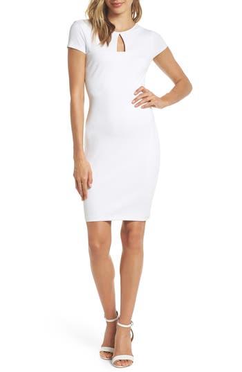 Ali & Jay Fruit Stand Ponte Cutout Minidress, White