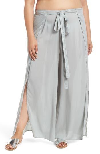 Plus Size Elan Cover-Up Flyaway Pants, Blue