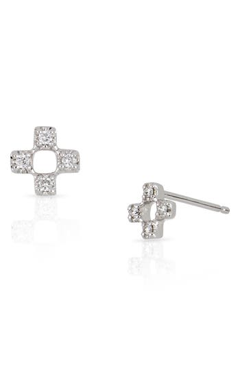 Bony Levy Open Square Diamond Earrings