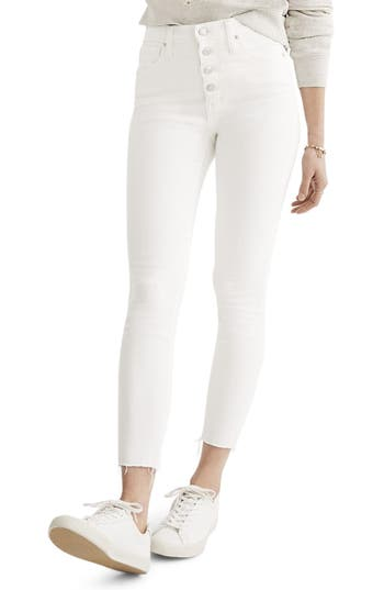 Madewell 10-Inch Button High Waist Crop Skinny Jeans