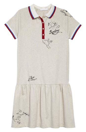 Boys Burberry Cali Polo Dress Size 12Y  White