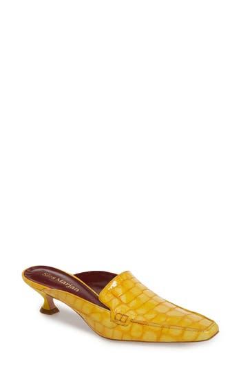 Sies Marjan Robin Croc Embossed Mule, Yellow