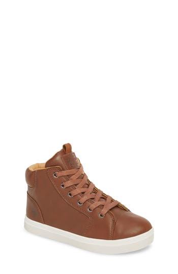 Boys Original Penguin Carson High Top Sneaker Size 4.5 M  Brown