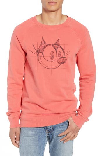 Scotch & Soda Amsterdams Blauw Felix the Cat Graphic Sweatshirt