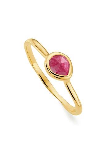 Monica Vinader Siren Small Semiprecious Stone Stacking Ring