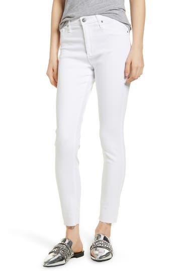AG The Farrah High Waist Raw Hem Ankle Skinny Jeans