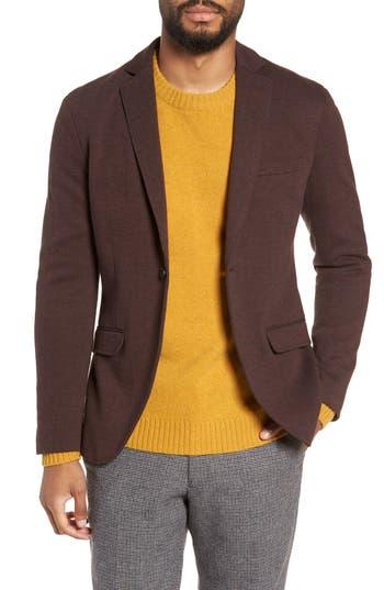 Selected Homme Herrold Slim Fit Herringbone Jersey Blazer