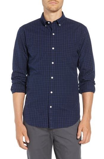Bonobos Washed Button Down Slim Fit Check Sport Shirt