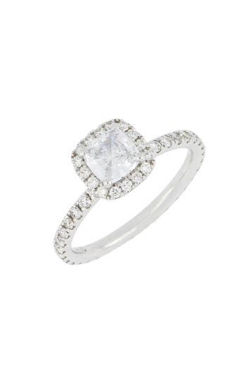 Bony Levy Pavé Diamond Halo Cushion Engagement Ring Setting