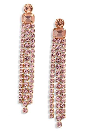 kate spade new york slice of stone crystal fringe earrings