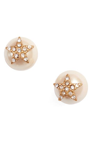 CRYSTAL STAR BEAD STUD EARRINGS
