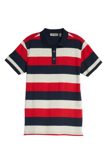 BOBBY JONES RULE 58 REGULAR FIT WIDE STRIPE POLO