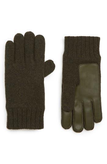 UGG® Leather Palm Knit Gloves